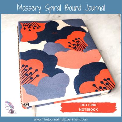 colorful floral spiral bound bullet journal