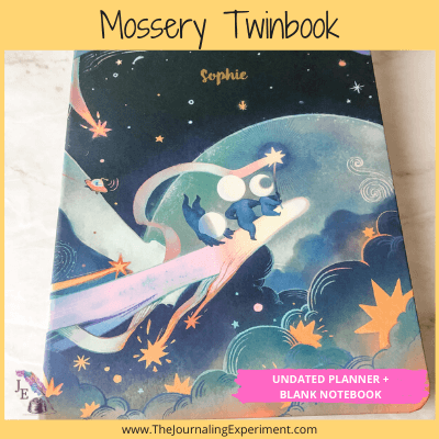 colorful space theme bullet journal